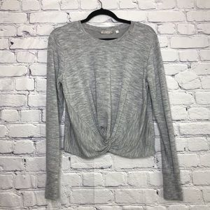Athleta | Heather Grey Twist Front Sweatshirt | S